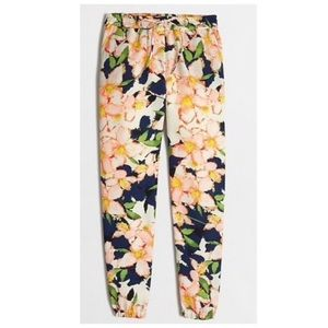 J.Crew Printed Floral Joggers Size 10